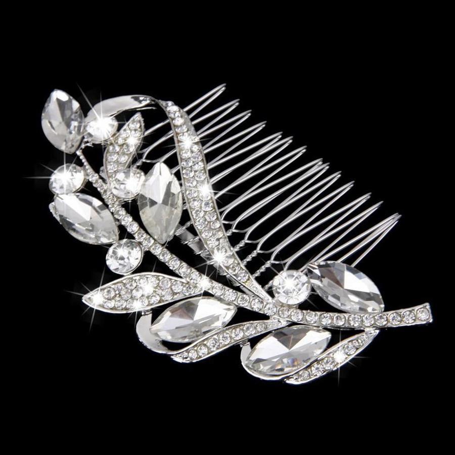 Fonkelende Moderne Haarkam bezet met Kristallen-3