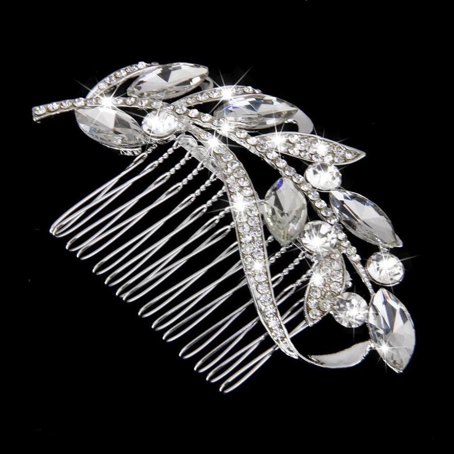 Fonkelende Moderne Haarkam bezet met Kristallen-4