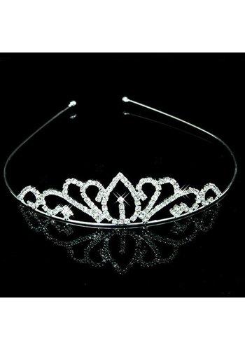Zilverkleurige Tiara / Kroon