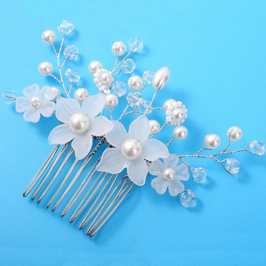 Moderne Haarkam Flowers-2