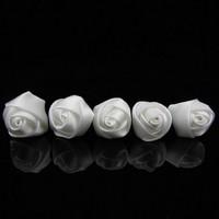 thumb-PaCaZa - Prachtige Witte Roosjes Curlies - 6 stuks-3