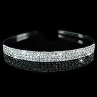 thumb-Zilverkleurige Tiara / Diadeem met Fonkelende Kristallen-1