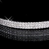 thumb-PaCaZa - Zilverkleurige Tiara / Diadeem met Fonkelende Kristallen-3
