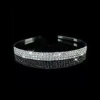 thumb-PaCaZa - Zilverkleurige Tiara / Diadeem met Fonkelende Kristallen-4