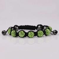 thumb-PaCaZa - SALE - Sprankelende Armband - Groen - 2 STUKS-2