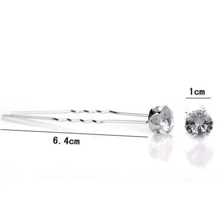 PaCaZa - Hairpins - Grote Kristallen - 5 stuks-3
