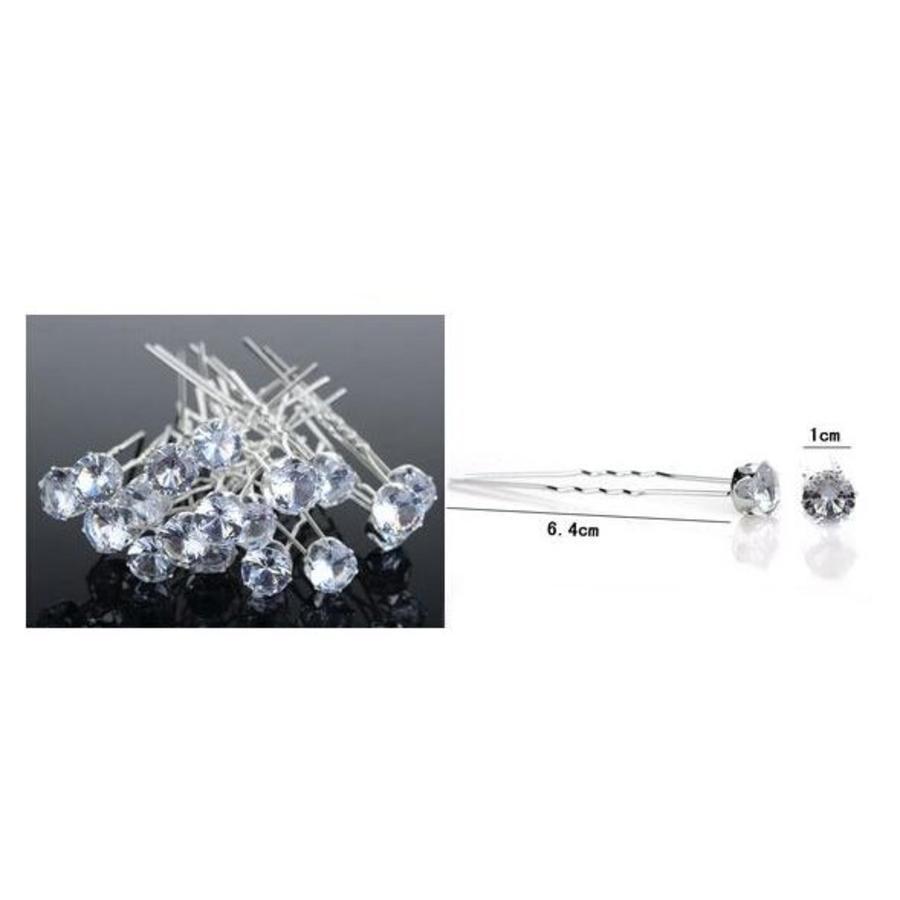 PaCaZa - Hairpins - Grote Kristallen - 5 stuks-4