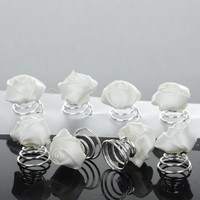 thumb-PaCaZa - Prachtige Witte Roosjes Curlies - 6 stuks-6