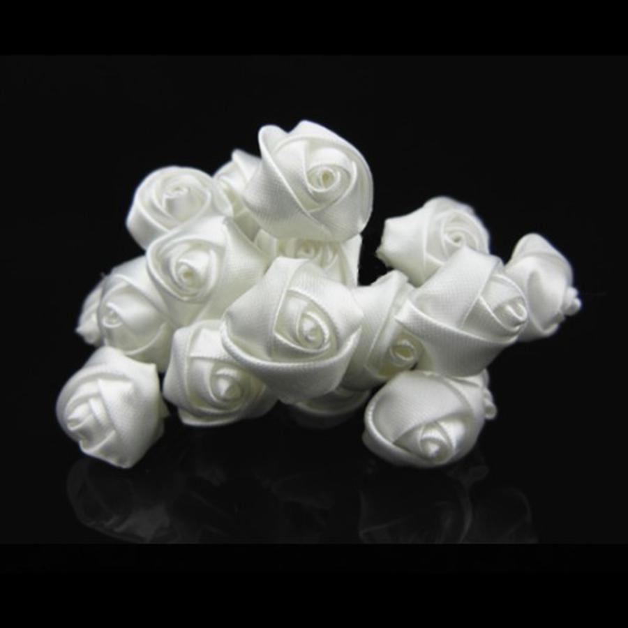 PaCaZa - Prachtige Witte Roosjes Curlies - 6 stuks-2