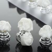 thumb-PaCaZa - Prachtige Witte Roosjes Curlies - 6 stuks-5