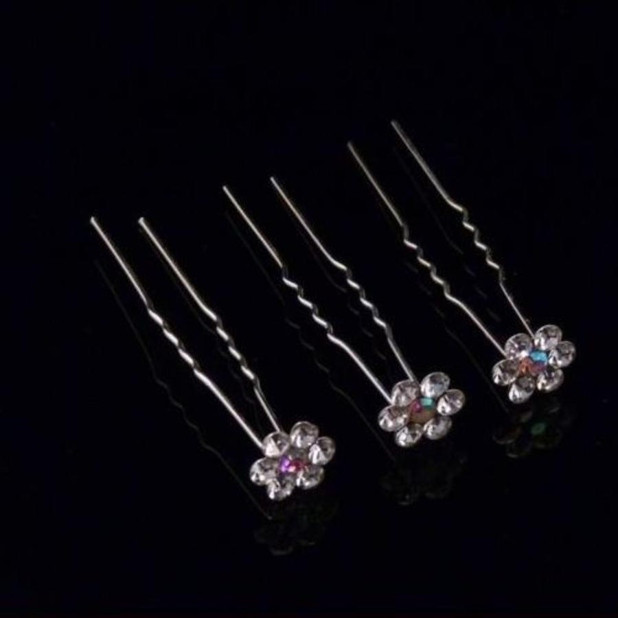 PaCaZa - Hairpins - Bloemetje met prachtige kleuren - 5 stuks-4
