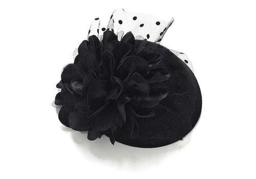 Elegante  Fascinator / Hoedje  - Zwart