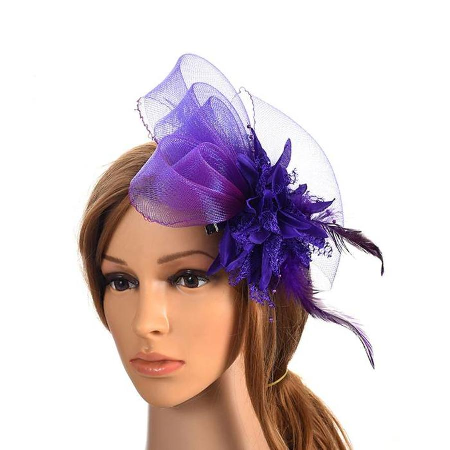 Chique Paarse Fascinator-1