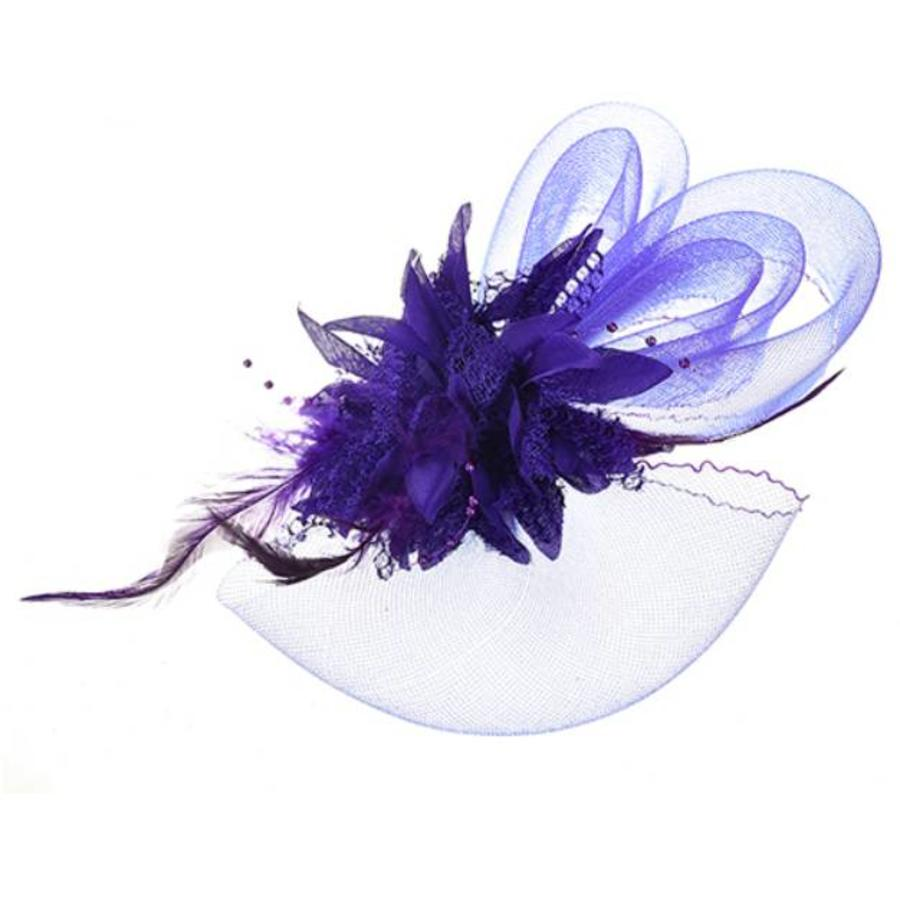 Chique Paarse Fascinator-2