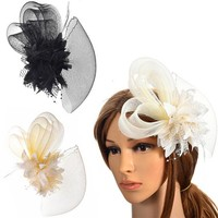 thumb-Chique Ivoorkleurige Fascinator-5