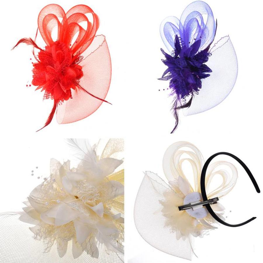 Chique Ivoorkleurige Fascinator-6