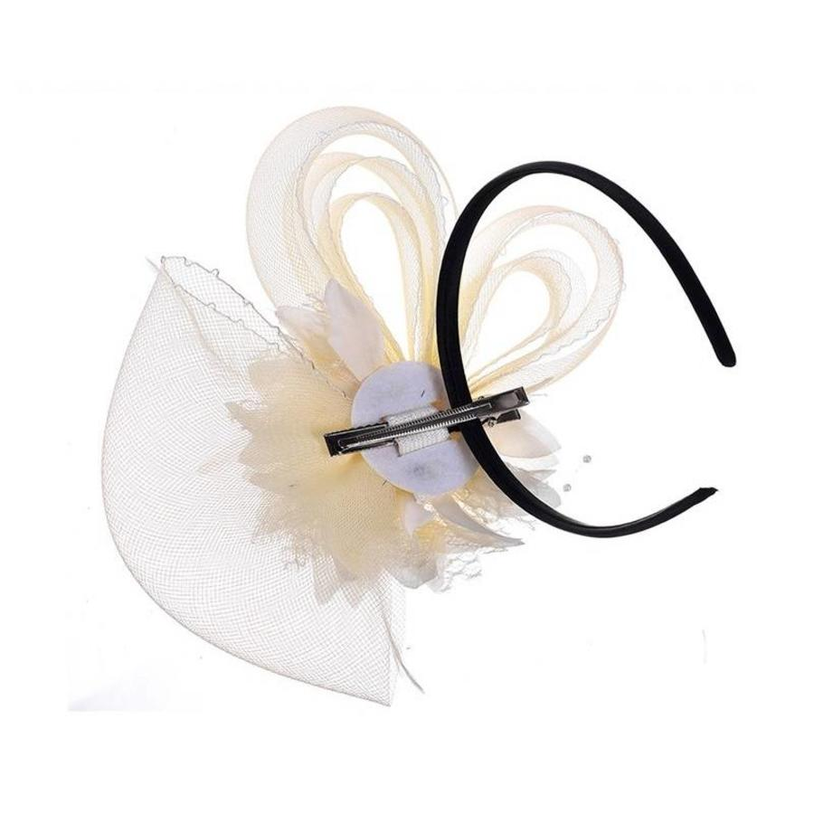 Chique Ivoorkleurige Fascinator-4