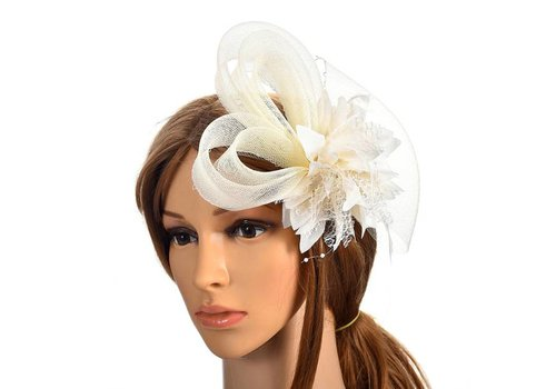 Chique Ivoorkleurige Fascinator