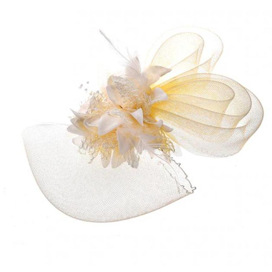 Chique Ivoorkleurige Fascinator-2