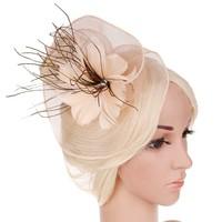 thumb-Moderne Fascinator / Haarband - Beige-1