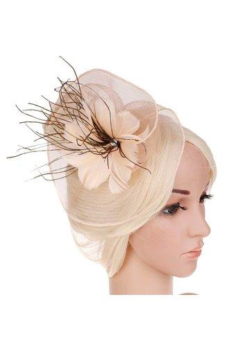 Moderne Fascinator / Haarband - Beige