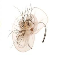 thumb-Moderne Fascinator / Haarband - Beige-2