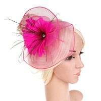 thumb-Moderne Fascinator / Haarband - Roze-1