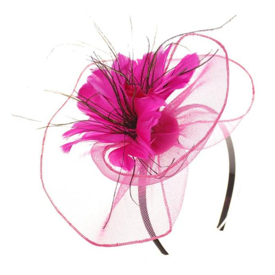 Moderne Fascinator / Haarband - Roze-2