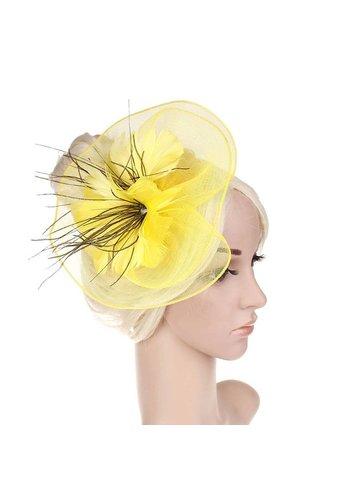 Moderne Fascinator / Haarband - Geel