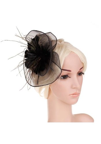 Moderne Fascinator / Haarband - Zwart