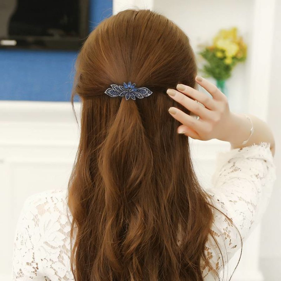 Moderne Fonkelende Haarclip - Blauw-2