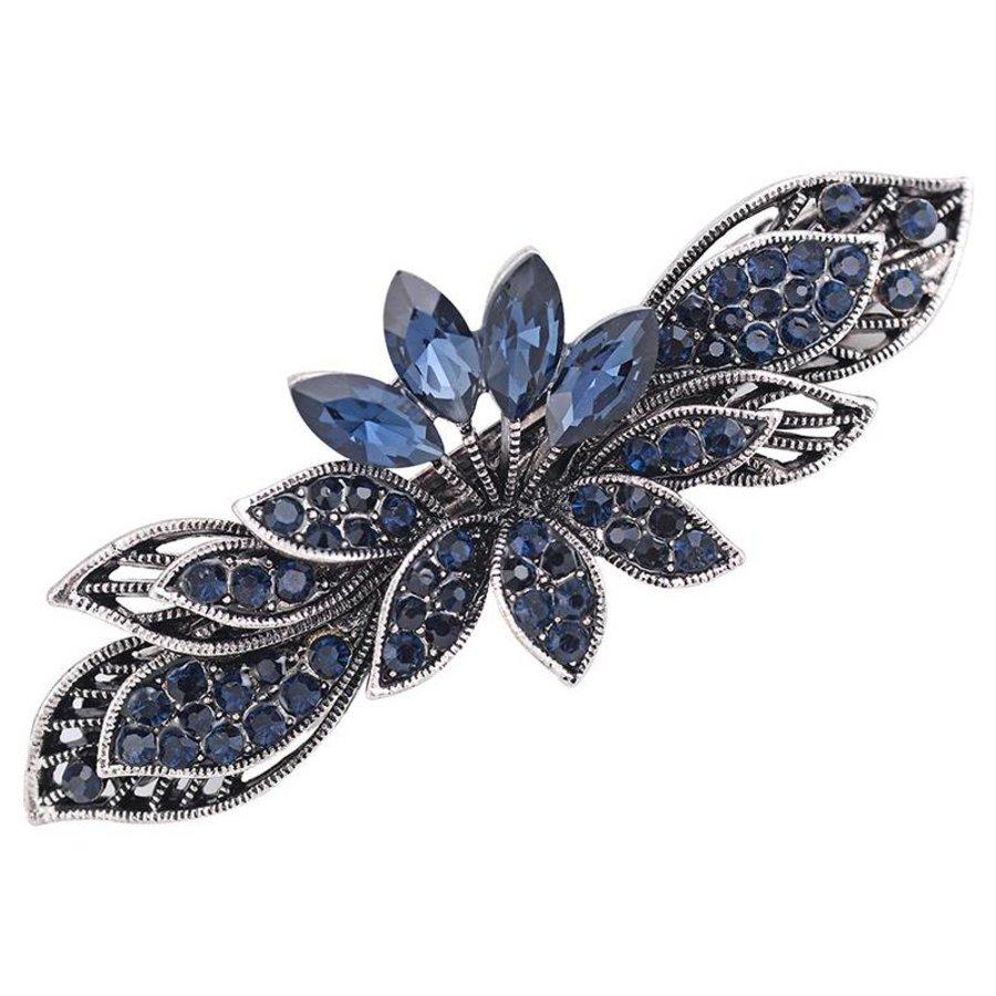 Moderne Fonkelende Haarclip - Blauw-8