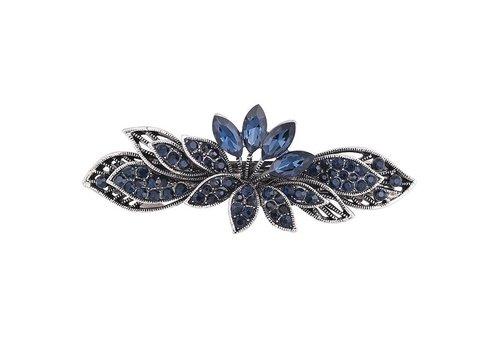 Moderne Fonkelende Haarclip - Blauw