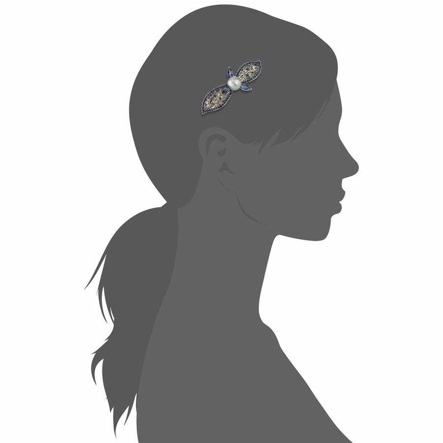 Moderne Fonkelende Haarclip Pearl  - Blauw-4