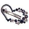 PaCaZa Moderne Fonkelende Haarclip Hart  - Blauw