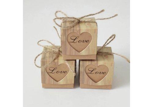 Geschenk doosjes / Cadeau doosjes - 50 stuks - Love