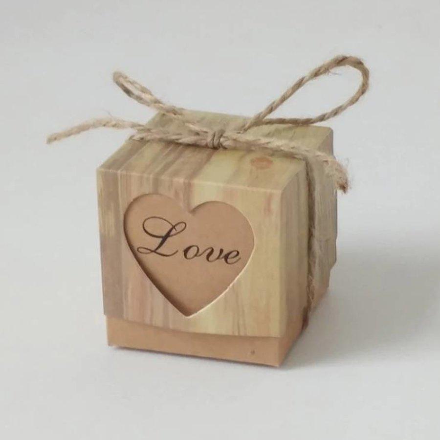Geschenk doosjes / Cadeau doosjes - 50 stuks - Love-3