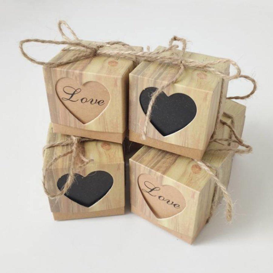 Geschenk doosjes / Cadeau doosjes - 50 stuks - Love-2