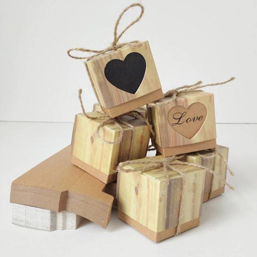 Geschenk doosjes / Cadeau doosjes - 50 stuks - Love-6