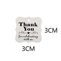 thumb-Labels Thank You - Wit -  200 stuks - Geschenk doosjes / Bedank doosjes-2