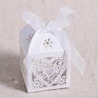 thumb-Geschenk doosjes / Cadeau doosjes - 50 stuks - Hart -  Wit-7