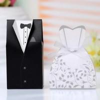 thumb-Cadeau doosjes / Geschenk doosjes - 50 stuks - Bruid & Bruidegom-6