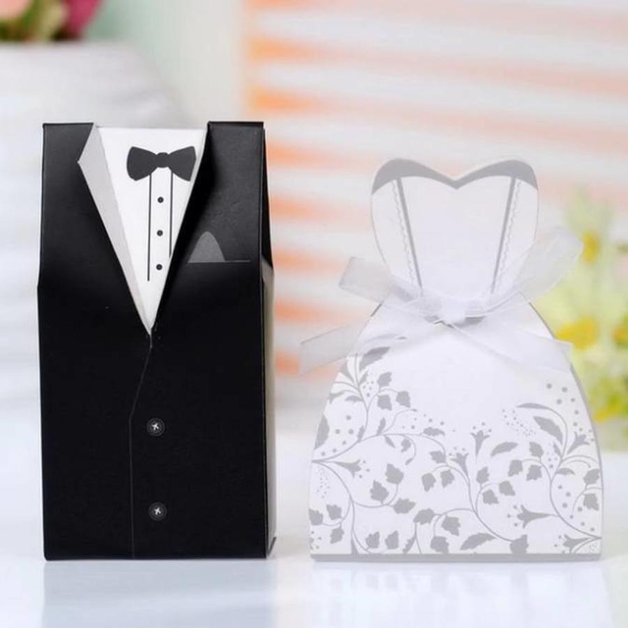 Cadeau doosjes / Geschenk doosjes - 50 stuks - Bruid & Bruidegom-6