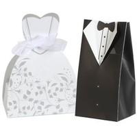 thumb-Cadeau doosjes / Geschenk doosjes - 50 stuks - Bruid & Bruidegom-1
