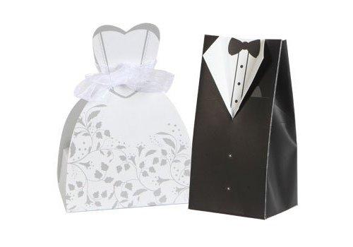 Cadeau doosjes / Geschenk doosjes - 50 stuks - Bruid & Bruidegom