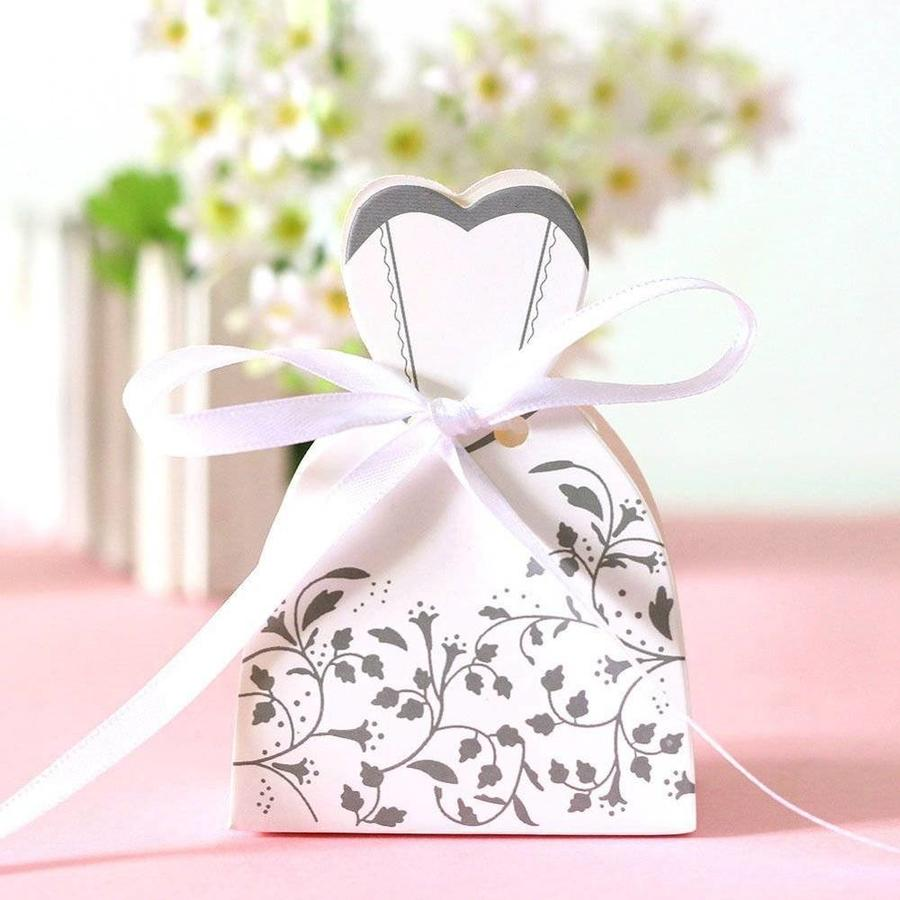 Cadeau doosjes / Geschenk doosjes - 50 stuks - Bruid & Bruidegom-4