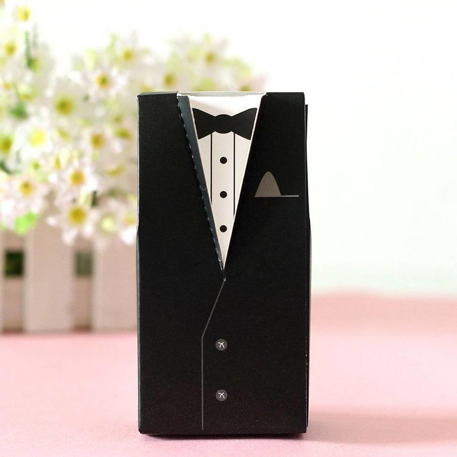 Cadeau doosjes / Geschenk doosjes - 50 stuks - Bruid & Bruidegom-5