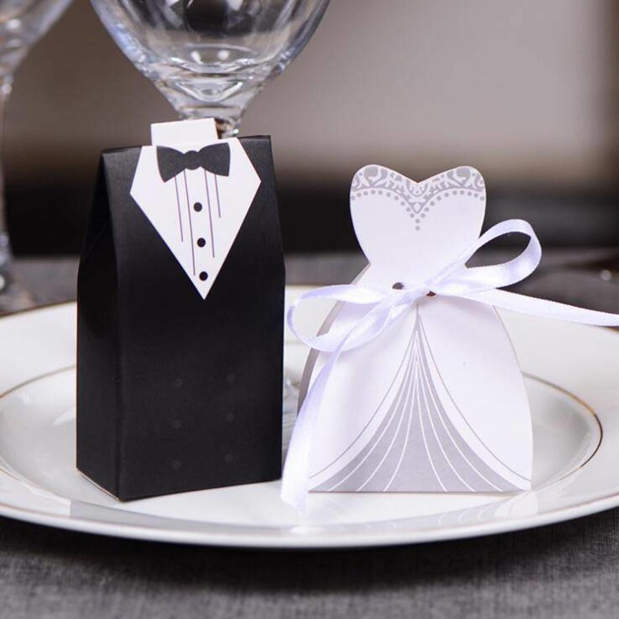 Geschenk doosjes / Cadeau doosjes - 50 stuks - Bruid & Bruidegom-9