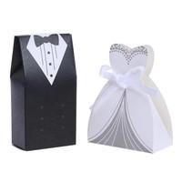 thumb-Geschenk doosjes / Cadeau doosjes - 50 stuks - Bruid & Bruidegom-1