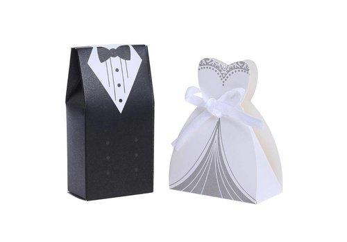 Geschenk doosjes / Cadeau doosjes - 50 stuks - Bruid & Bruidegom